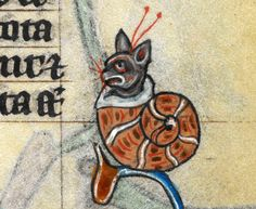 """discardingimages: """" snailcat 'The Maastricht Hours', Liège 14th century. British Library, Stowe 17, fol. 185r """""""