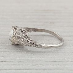 1.17 Carat Vintage Diamond Engagement Ring by ErstwhileJewelry