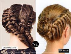 Peinados para noches de verano Doble trenza o rodete hecho con trenzas cosidas.