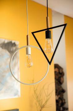Aporta un toque elegante al salón con lámparas con formas geométricas #ideas