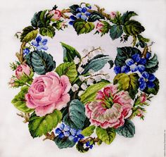 This Pin was discovered by Tri Rose Embroidery, Embroidery Patterns Free, Cross Stitch Embroidery, Cross Stitch Patterns, Cross Stitch Tree, Cross Stitch Flowers, Cross Stitch Kitchen, Crafty Craft, Cross Stitching