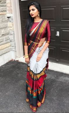 Beauty of saree Classic Indian Sarees Click Visit link to read Indian Fashion Trends, Indian Designer Outfits, Indian Beauty Saree, Indian Sarees, Indian Dresses, Indian Outfits, Indian Attire, Indian Wear, Stylish Sarees