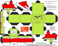 The Grinch Cubee by TheFlyingDachshund.deviantart.com