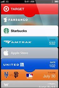 Passbook app by Apple - iOS 6