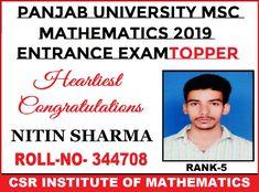 Sc mathematics entrance coaching in chandigarh Math Coach, Chandigarh, Maths, Mathematics, Entrance, Coaching, Congratulations, University, Training