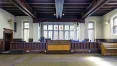 Our majestic court room is used for performances, workshops and courses.  Before the Town Hall was transformed into an arts centre, magistrates would sit behind the bench to hear cases and give their verdict. The people of the town were allowed to sit in the public gallery to see what happened. We are currently in the process of transforming the court room into a music venue for the people of Trowbridge. Our court room is available for hire, see our website for more details. Sensory Garden, Parquet Flooring, Town Hall, Centre, Bench, Public, Cases, Website, Gallery