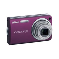 Nikon COOLPIX S550 | Camera | Gear ❤ liked on Polyvore featuring fillers, purple fillers, electronics, purple and camera