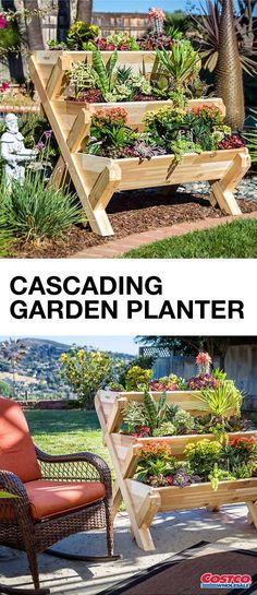 Not only can this CedarCraft Cascading Garden Planter help you display your assortment of flowers, succulents, and plants—it makes a wonderful decoration for your patio or deck space! Even if you have a small outdoor entertaining area, find the gardening essential you need by shopping at Costco.