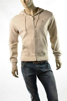 Ralph Lauren Hoodie NWT Mens RL Polo Classic L/S Full Zip Sweater Jacket Sz M #RalphLaurenPolo #Hoodie