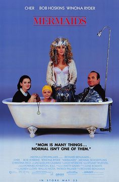 Mermaids (1990) movie is weird but it fits my category. And 3 of the top weirdest but fabulous brunettes are in this.