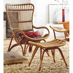 Roost Lars Rattan Chair. Inspired by 1960's European designs, our curvaceous Lar's chair is made from durable bent rattan, to last for many years to come. Unlike bamboo, rattan is solid and durable yet very bendable, making it the perfect choice for furniture design.