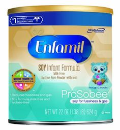 Enfamil Prosobee Soy Infant Formula Powder with Iron, 22 Ounce (Pack of 4) (Packaging May Vary) Enfamil http://www.amazon.com/dp/B00CTKKBAS/ref=cm_sw_r_pi_dp_97f7tb0K7AYRC