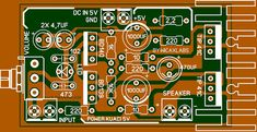 5v amplifier Audio Layout Komplit Karya Wicaxlab Waves Audio, Diy Amplifier, Power Supply Circuit, Electronic Schematics, Electronics Components, Led, Layout, Circuits, Summer Nails