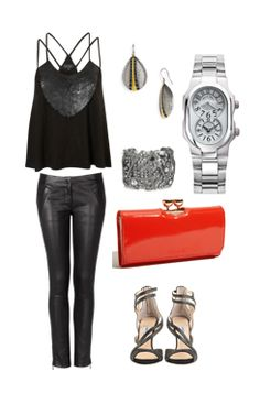 Pair your look with a time piece from Philip stein for a night out