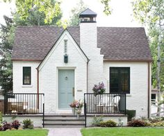 When nationally celebrated design firm Studio McGee's dreamy remodel of this… When nationally celebrated design firm Studio McGee's dreamy remodel of this Denver Tudor achieved. Brick Cottage, Tudor Cottage, Cottage Homes, Exterior House Colors, Exterior Design, Tudor House Exterior, Colonial Exterior, Exterior Trim, Exterior Paint