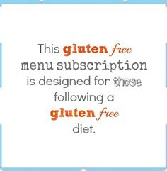 Gluten free menu subscription from @5 Dinners