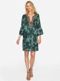 6447b0f737d Botanical Print Tunic Dress #johnnywas Dress Collection, New Dress, Boho  Dress, Bell