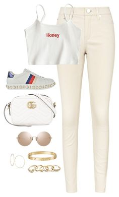 """Untitled #4652"" by magsmccray ❤ liked on Polyvore featuring Gucci, Linda Farrow, Cartier and GUESS"