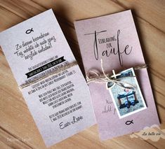 """Einladung natur """"Taufe"""" x 21 cm – La belle vie Onlineshop – Invitation Ideas for 2020 Shower Favors, Bridal Shower Invitations, Party Invitations, Wedding Destination, Rose Soap, Mother And Father, Gifts For Coworkers, Mom And Dad, Invitation Cards"""