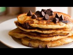 Chocolate Chip Pancakes, 4 Ingredients, Lunches & Snacks, Cooking with Kim