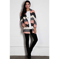 Stripe Blazer Jacket Absolutely stunning! Self: 50% polyester 40% acrylic 10% nylon. Lining: 100% rayon. Jackets & Coats Blazers