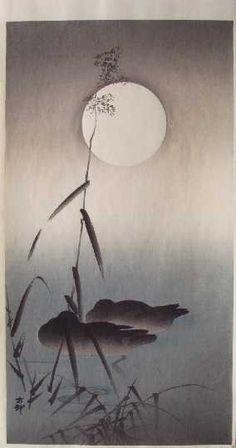 "KOSON - ""Two Mallards Sleeping under Full Moon"""