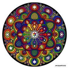 Mandala 42 - Rainbow coloured by Mandala-Jim http://mandala-jim.deviantart.com/