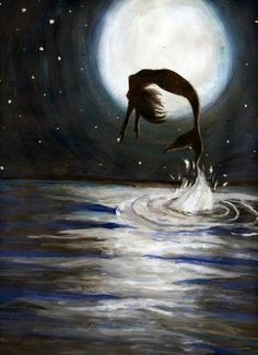 Stunning piece of artwork, I love the way she's jumping out of the waves.