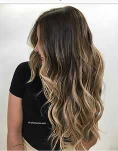 Brown To Blonde Balayage Discover 50 HOTTEST Balayage Hair Ideas to Try in 2020 - Hair Adviser Balayage hair will refresh your look and fix some flaws in the appearance. Find out what balayage highlights will suit your hair length type and texture. Balayage Long Hair, Balayage Highlights, Hair Color Balayage, Brunette Highlights, Color Highlights, Balayage Hairstyle, Brunette Ombre, Caramel Highlights, Brown Blonde Balayage