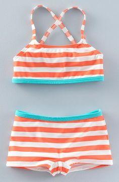 Mini Boden 'Surf' Two-Piece Swimsuit (Toddler Girls, Little Girls & Big Girls)