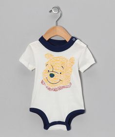Take a look at this Beige Winnie the Pooh Bodysuit - Infant by Winnie the Pooh on #zulily today!