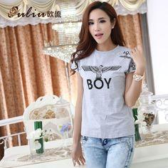 New 2014 women t-shirt fashion cotton printing short sleeve summer dress T shirt high quality Korean style casual tops for women $14.90