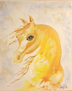 I love horses with all my heart,  I am honored to be able to paint them.  Art 4 you by SusieQ on Facebook!