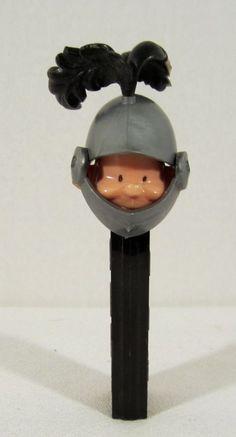 Vintage Knight Pez Dispenser No Feet Black Stand Austria | eBay