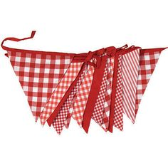 shades of red cotton bunting by the cotton bunting company   notonthehighstreet.com