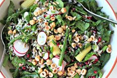 Milk and Honey: Wild Rice Salad with Asparagus and Baby Corn