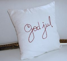 Swedish Christmas cushion~Merry Christmas  for stephanie :)