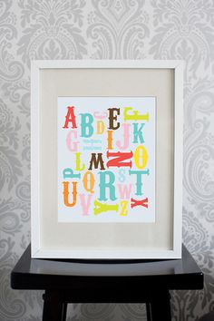 8x10 Print Alphabet Mutlitcolored by pixelcloud on Etsy, $19.00
