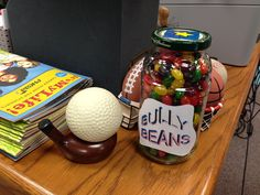 """My new """"Bully Beans"""" jar to go along with my classroom guidance lesson centered around Julia Cook's book, Bully B.E.A.N.S.!!"""