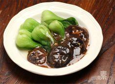 浇汁香菇油菜的做法