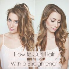 My Everyday Hair - How to Curl Hair with a Straightener in 5 Minutes | La Petite Noob