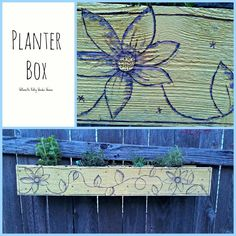 Have you thought about planting a garden yet? A couple years ago I made this planter box....it works great for herbs: