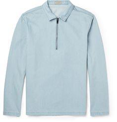 COS - Half-Zip Denim Shirt|MR PORTER