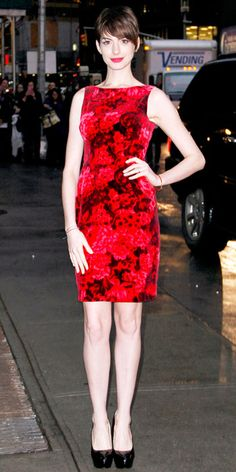Look of the Day - December 15, 2012 - Anne Hathaway from #InStyle