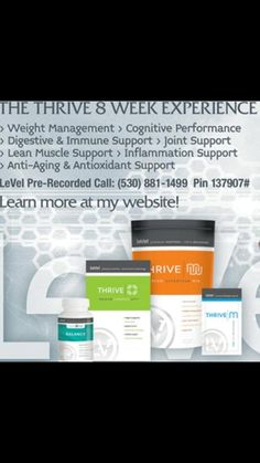 Let's get thriving, sign up for FREE at https://saranichols.le-vel.com/IndustryShift