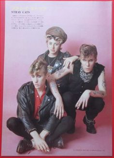 """♫'""""Stray Cats 80's clipping japan…☺…""""'♫http://www.ebay.com/itm/STRAY-CATS-BRIAN-SETZER-Terry-Bozzio-Missing-Persons-1983-CLIPPING-JAPAN-RS-6A-/381554022120"""