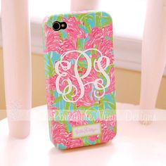 Set of Two - 2 inch Custom Monogram Decals - fits back of iPhone. $5.00, via Etsy.