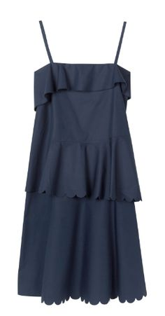 Shop now. See By Chloé Cotton Dress With Ruffle Overlay. Navy Dress, Conde Nast Traveller. Mexico, Tulum.