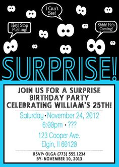 30th surprise birthday party ideas for men google search nice surprise birthday invitations for men get more invitation ideas at httpwww filmwisefo