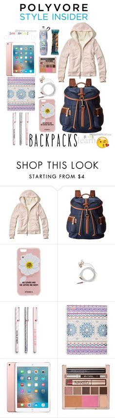 """""""Ready to Go"""" by sweetdee55 ❤ liked on Polyvore featuring Hollister Co., Calvin Klein, Iphoria, Nicole Miller, Mead, Apple, Urban Decay, backpacks, contestentry and PVStyleInsiderContest"""